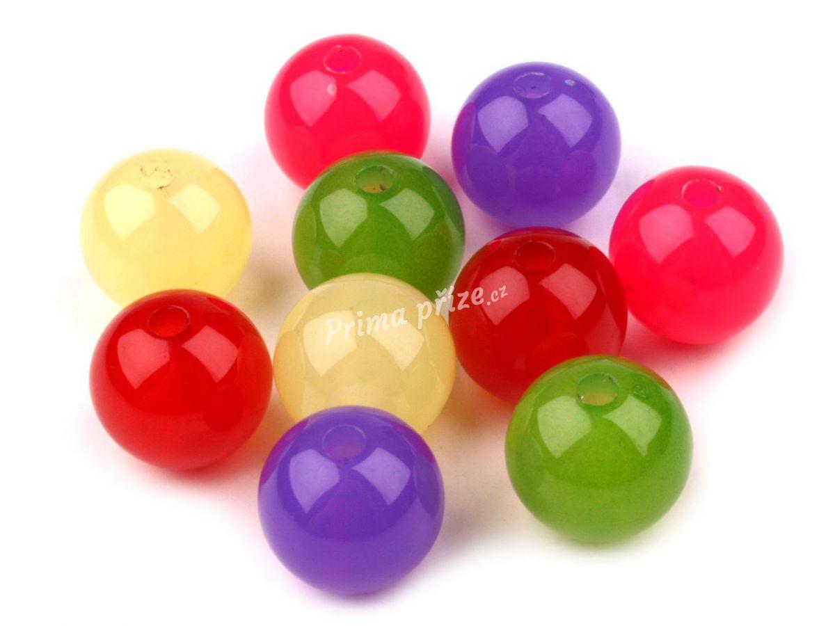Plastové korálky kulička průměr 14mm
