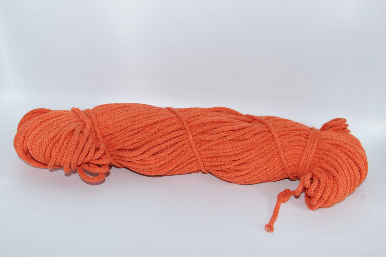 PRIMA Šňůry 5mm/100m pomerančová