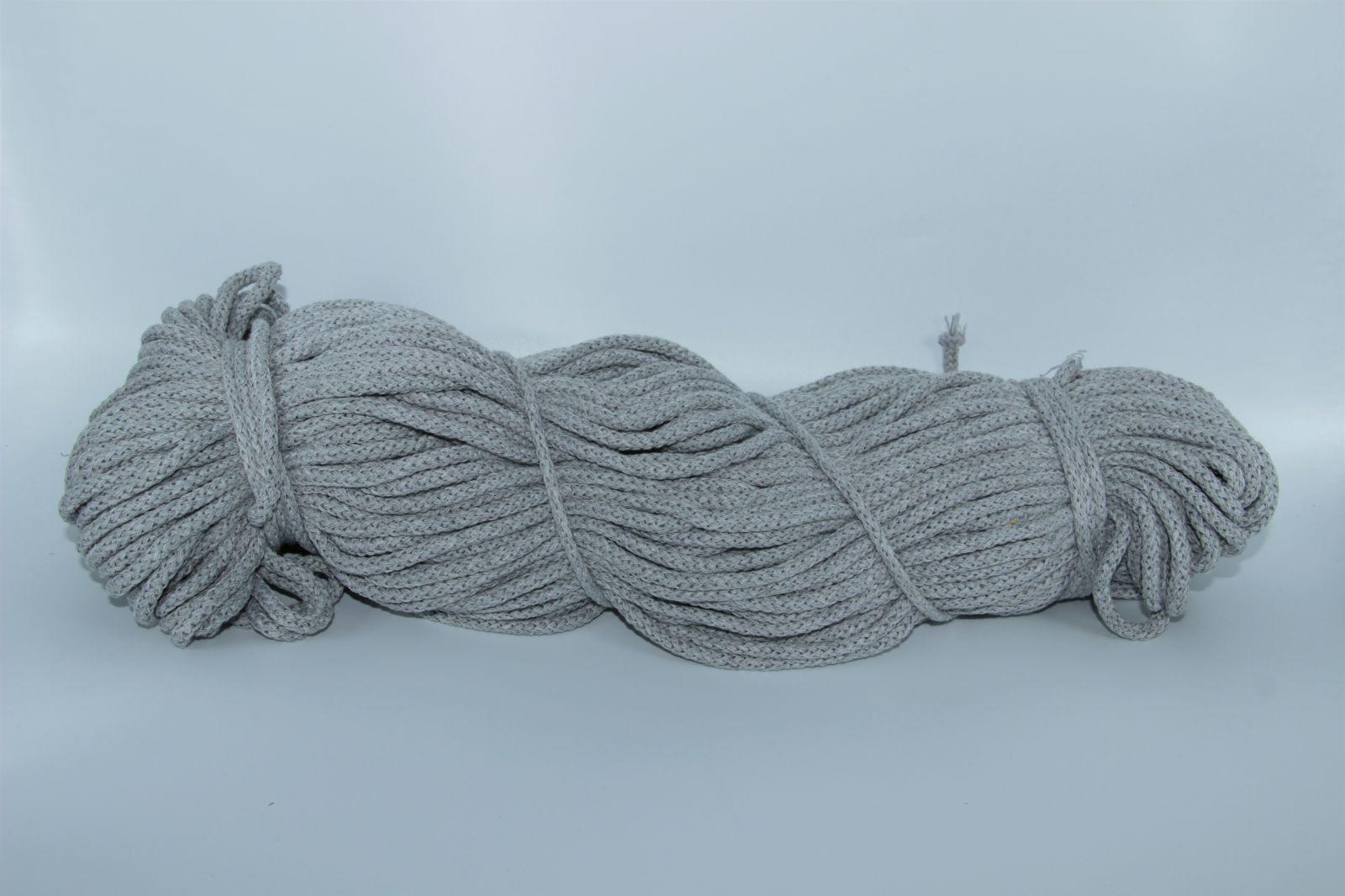 PRIMA Šňůry 5mm/100m šedá