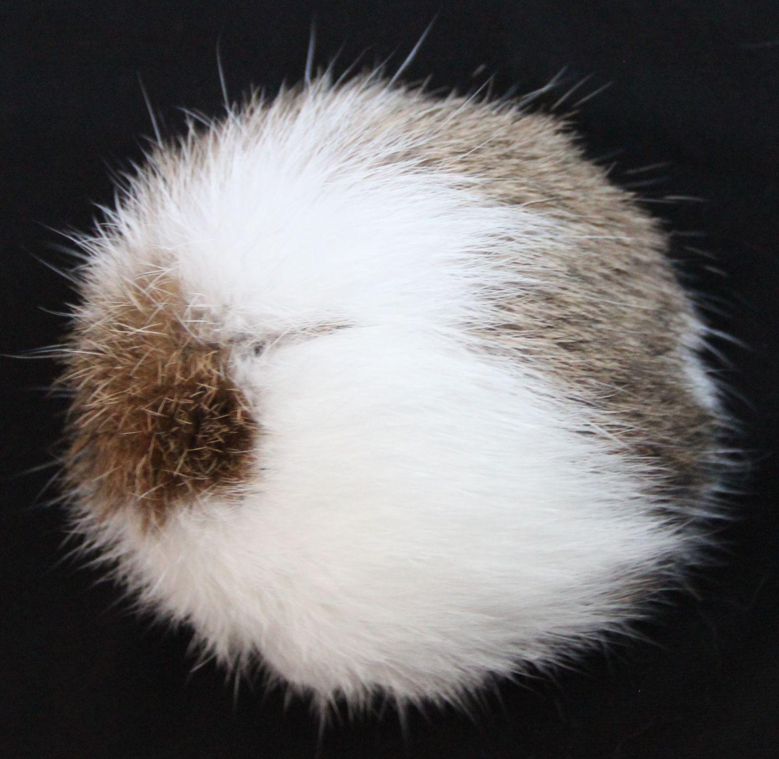 Bambule králík 8cm s poutkem a kroužkem 13 hnědo-bílá