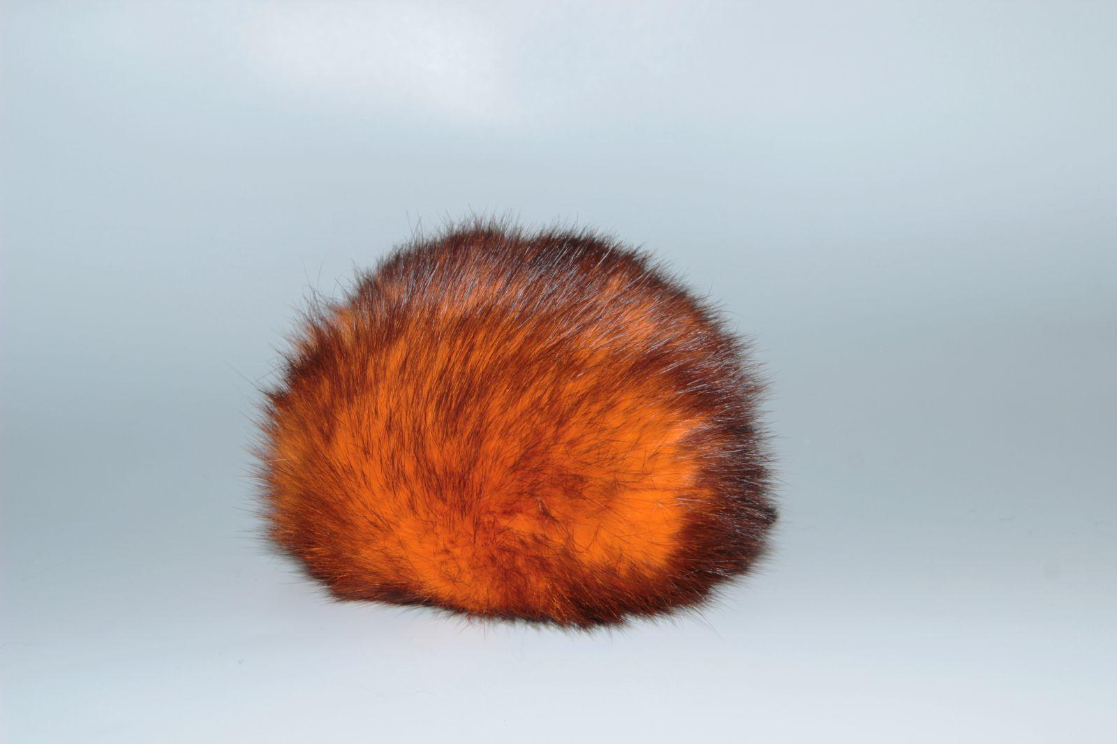 Bambule králík 8cm s poutkem a kroužkem 21 oranžová s černými konci