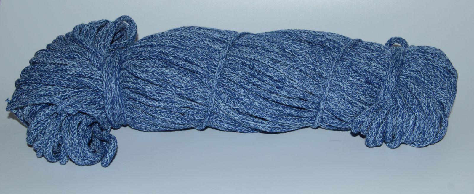 PRIMA Šňůry 5mm/100m modrá-světle modrá melange
