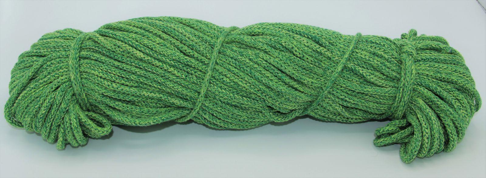 PRIMA Šňůry 5mm/100m zlatožlutá-zelená melange