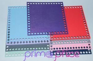 Dřevěné dno čtverec 20x20 tmavě fialová