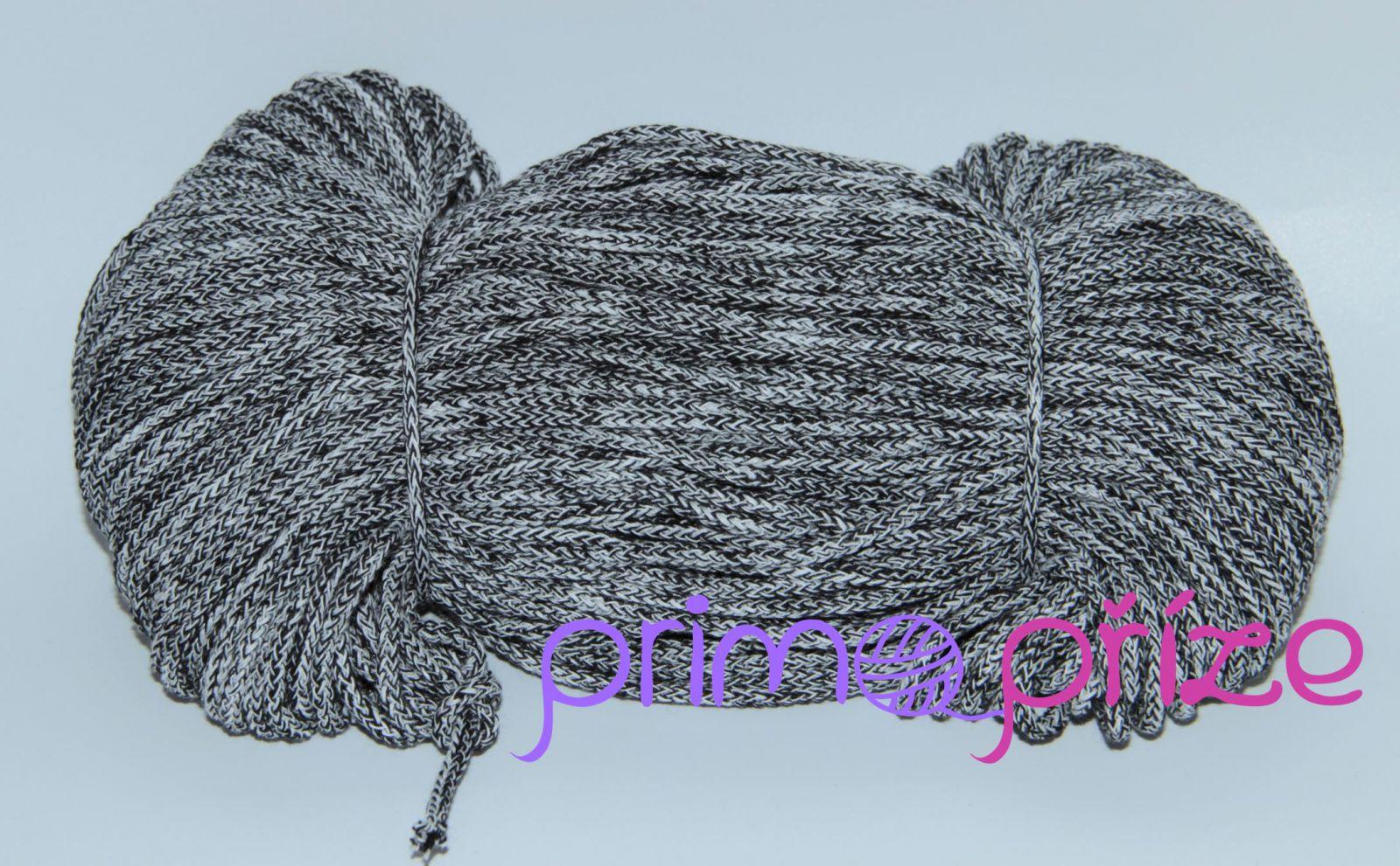 PRIMA Šňůry 3,5mm/100m melange černá+bílá