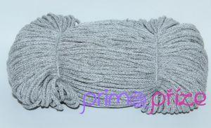 PRIMA Šňůry 3,5mm šedá+bílá melange