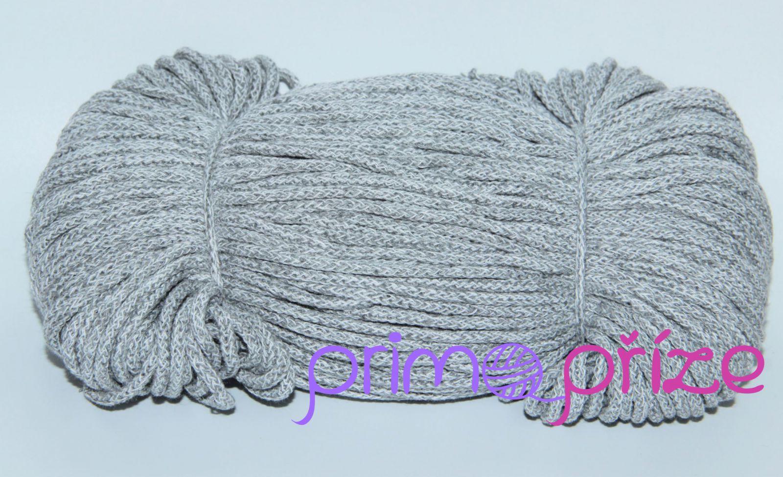 PRIMA Šňůry 3,5mm/100m melange šedá+bílá