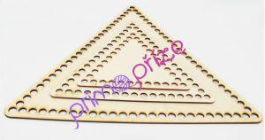 Dřevěné dno trojúhelník 24cm přírodní