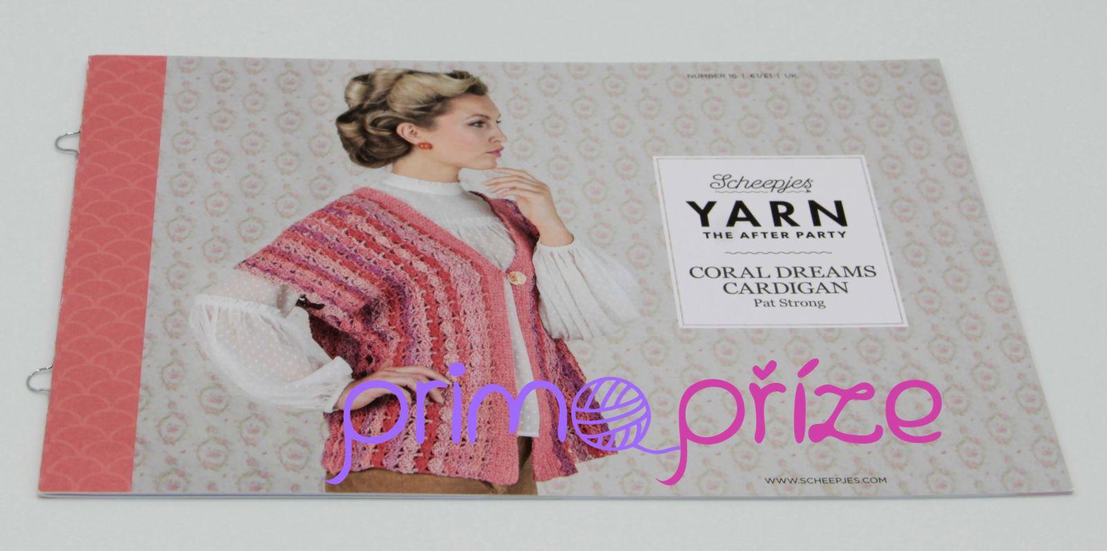 Scheepjes Yarn After Party 16 Coral Dreams Cardigan