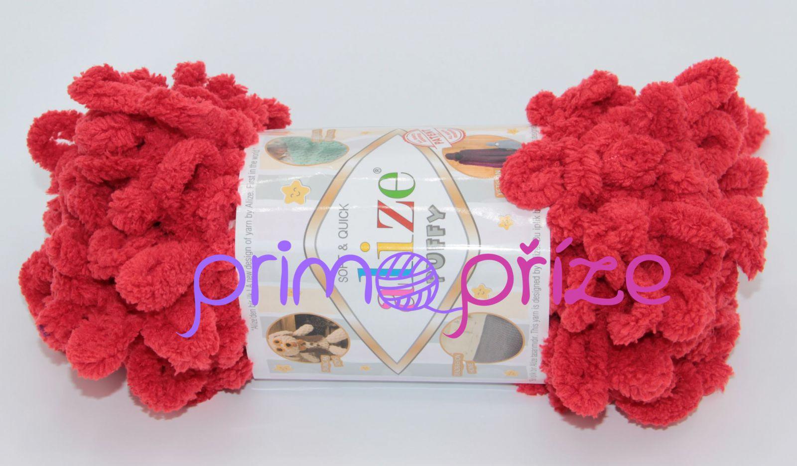 ALIZE Puffy 056 červená
