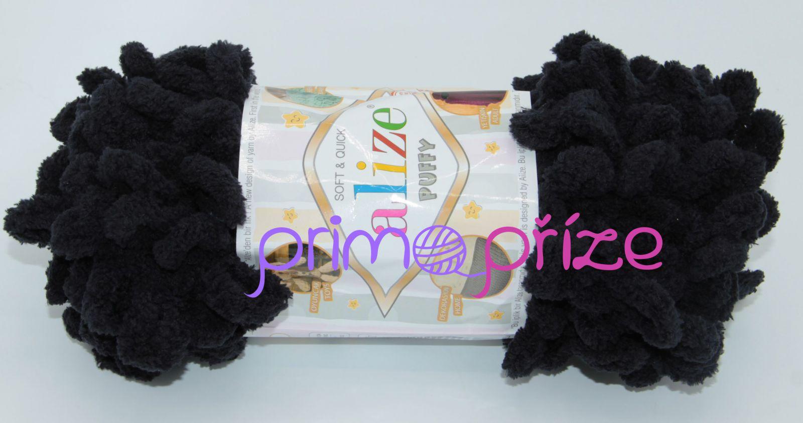 ALIZE Puffy 060 černá