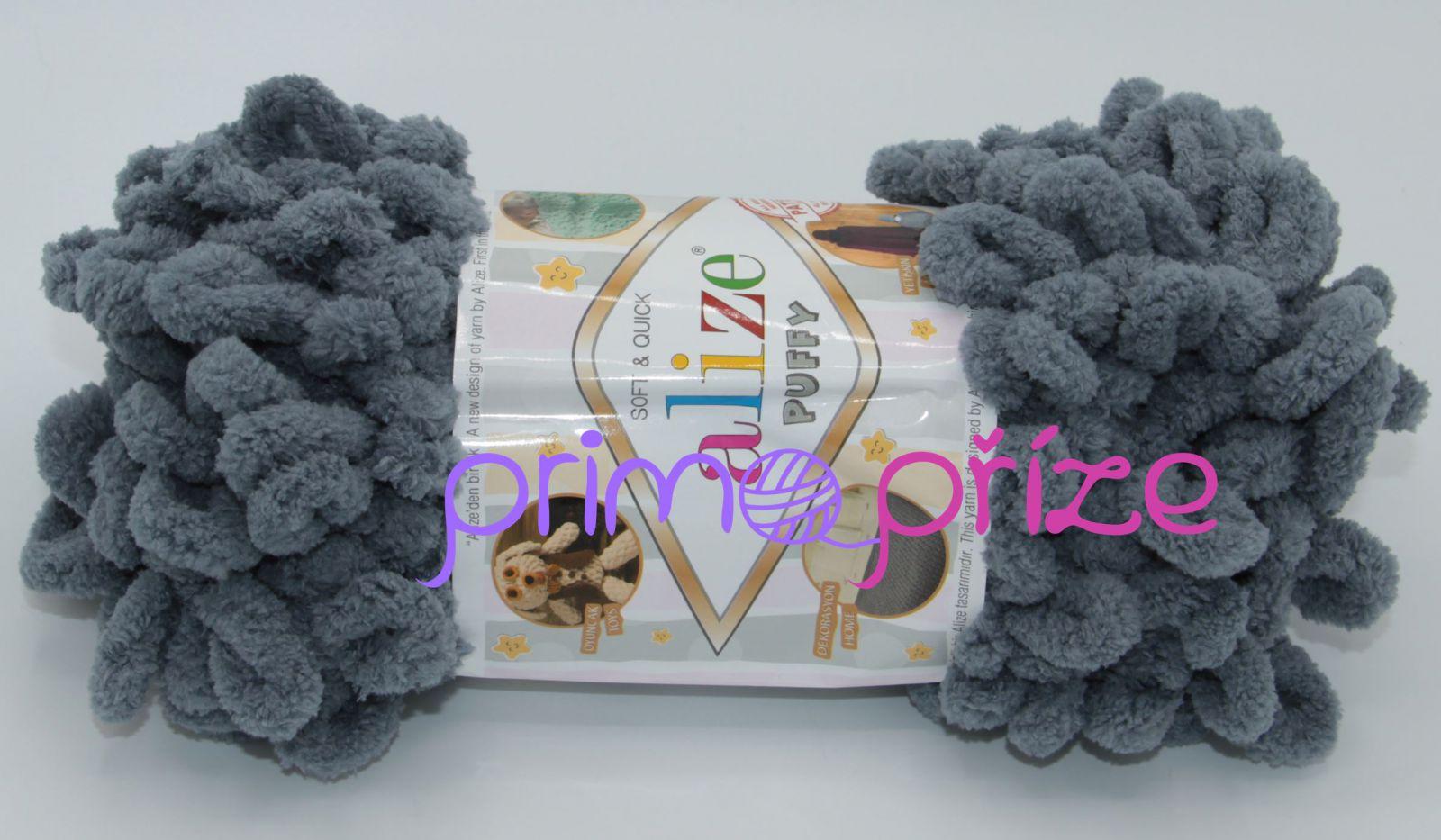 ALIZE Puffy 087 tmavě šedá