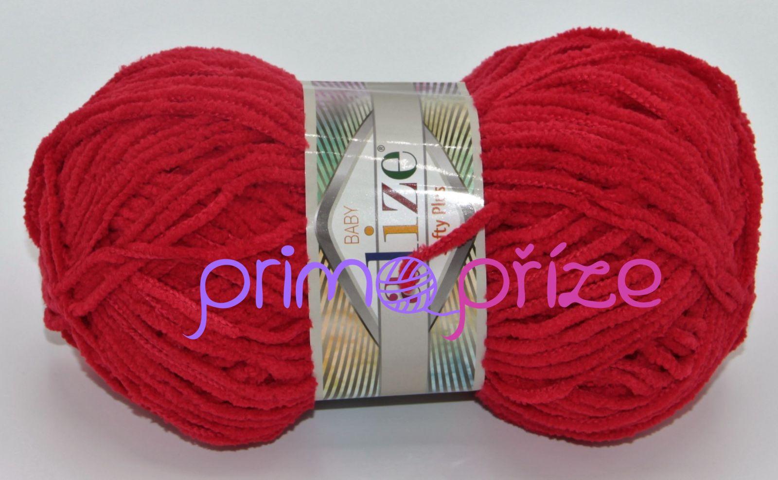ALIZE Softy Plus 056 červená