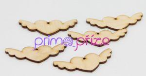 Dřevěné cedulky srdíčko s křídly