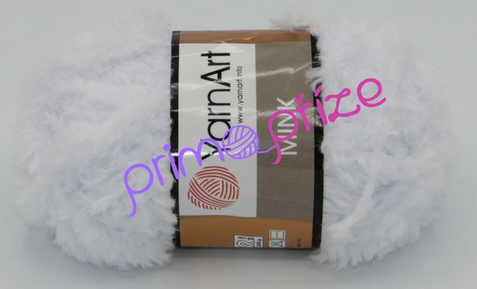 YarnArt Mink 345 bílá