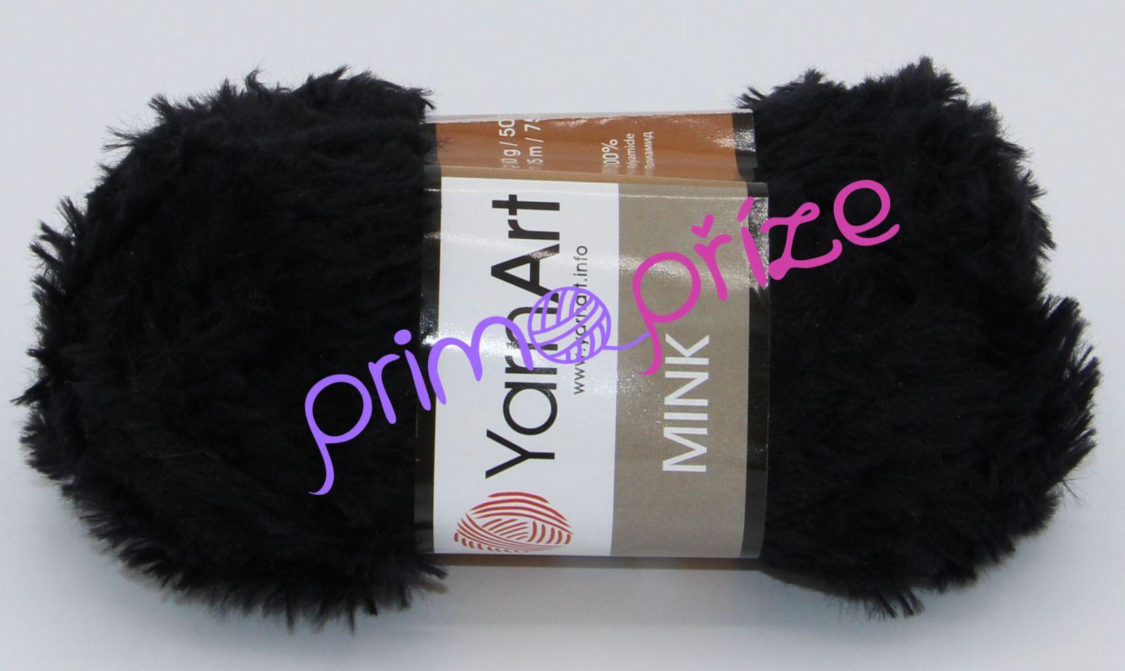 YarnArt Mink 346 černá