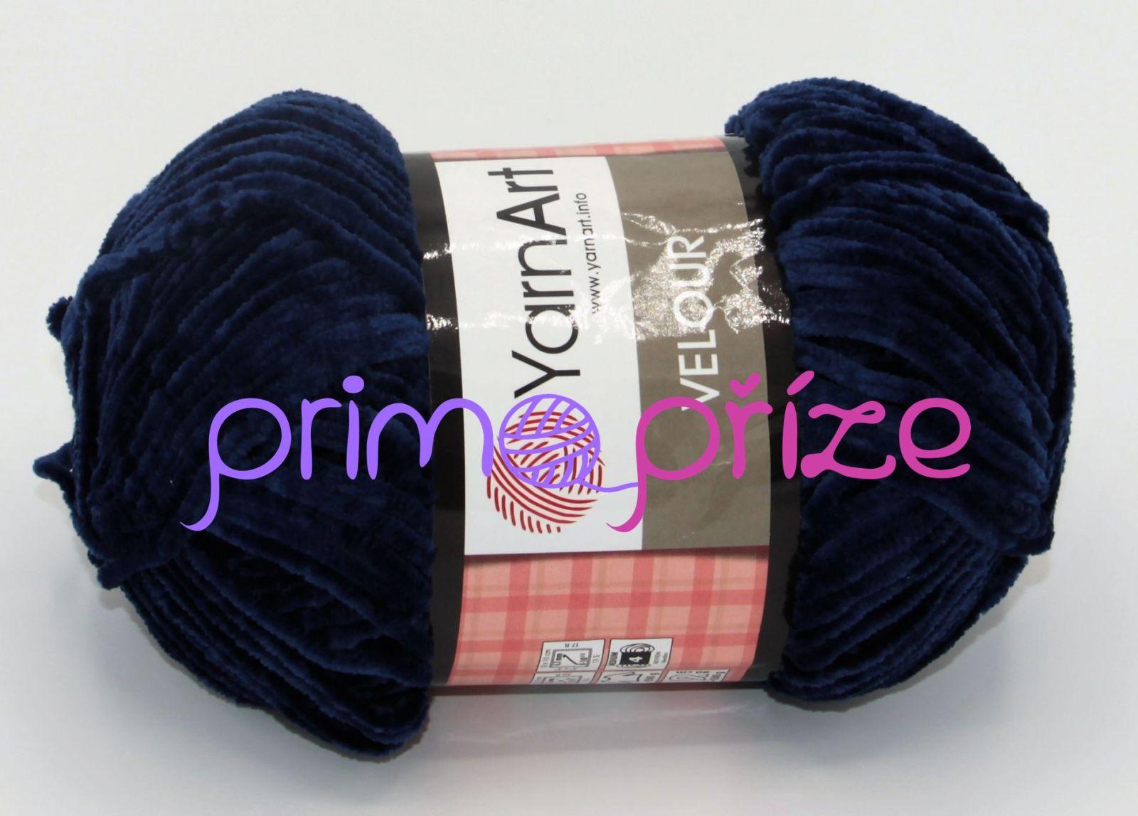YarnArt Velour 848 tmavě modrá