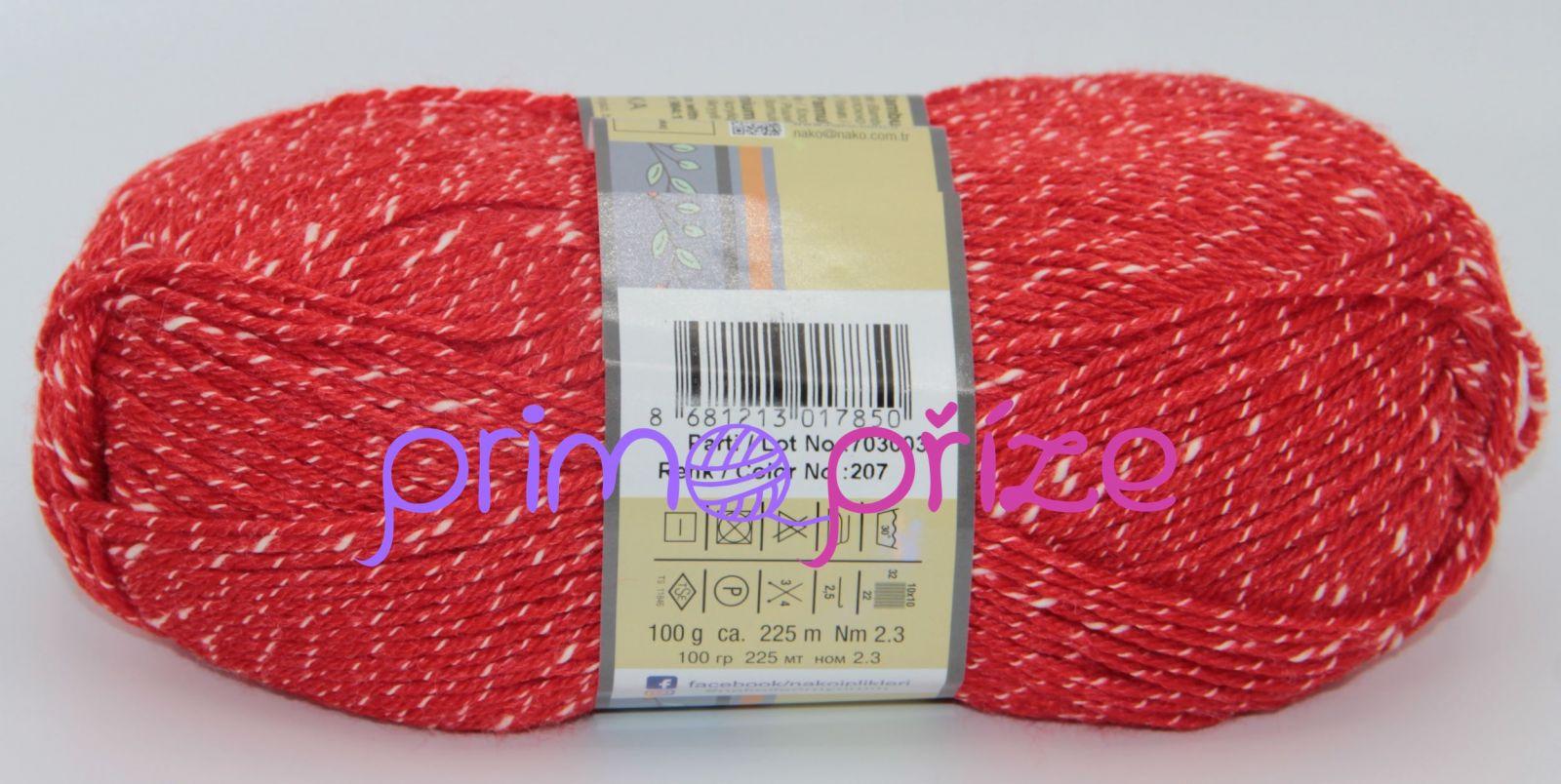 NAKO Natural Bebe 207 červená s bílou