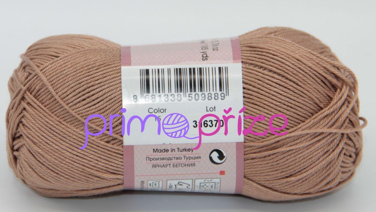 YarnArt Begonia 0015 oříšková