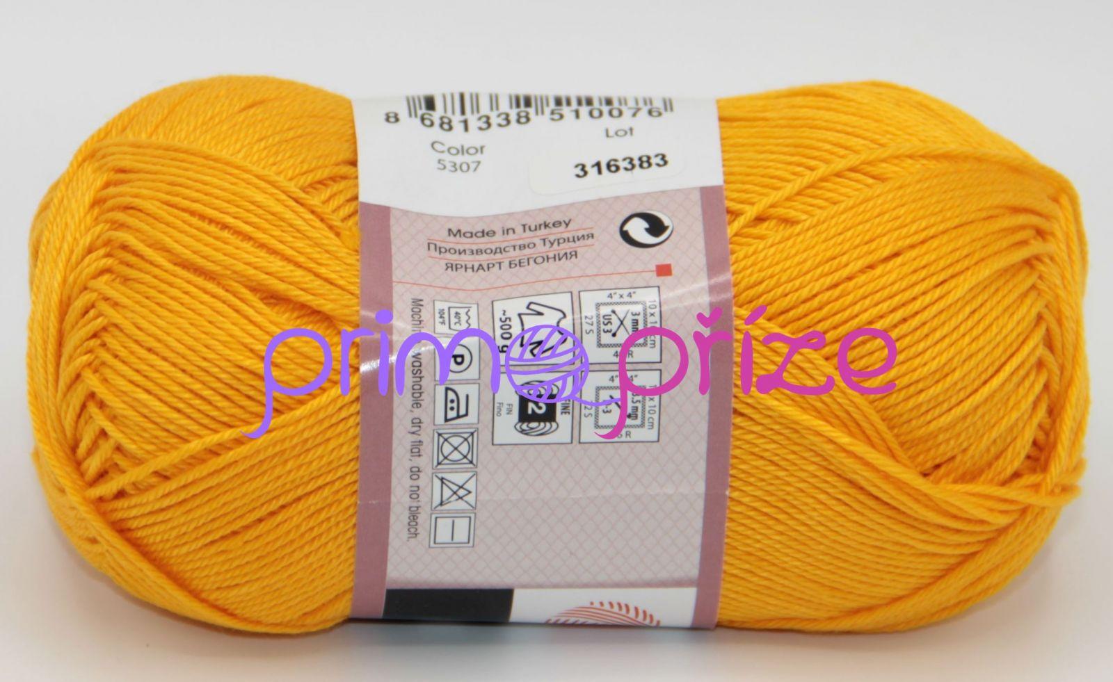 YarnArt Begonia 5307 zlatožlutá