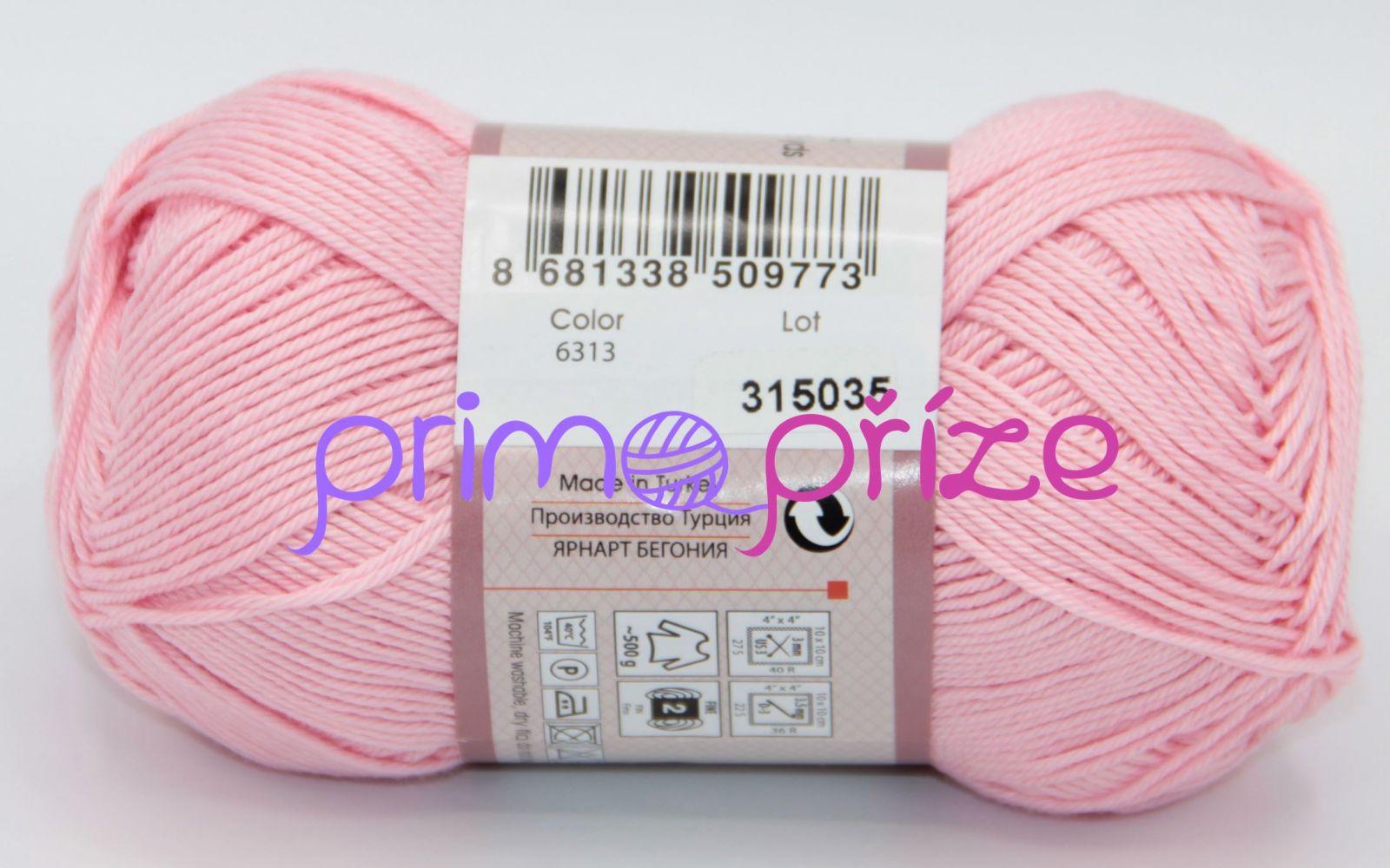 YarnArt Begonia 6313 světle růžová