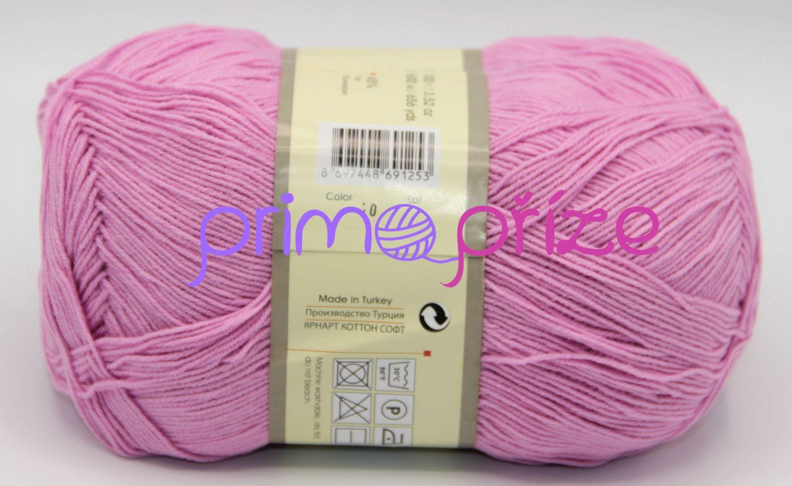 YarnArt Cotton Soft 20 růžová