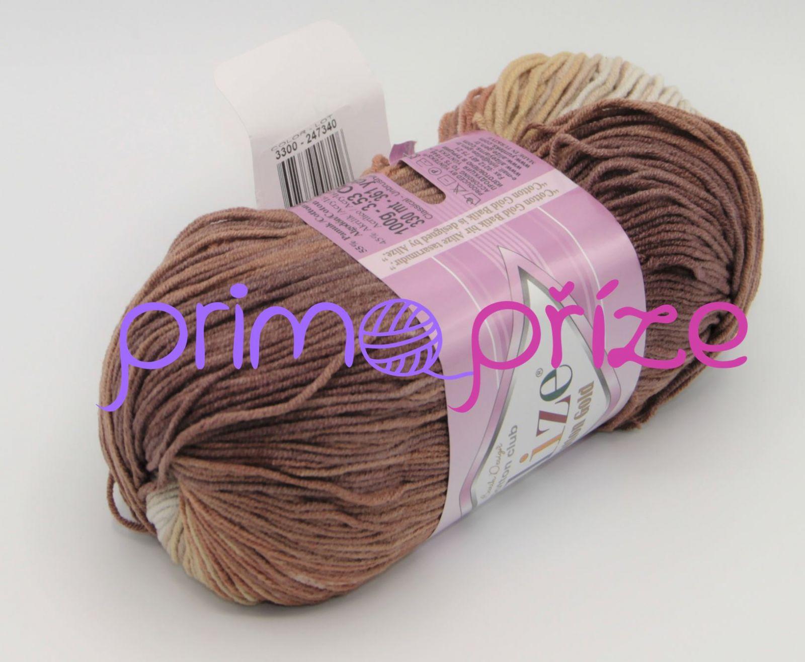 ALIZE Cotton Gold Batik 3300 melírovaná