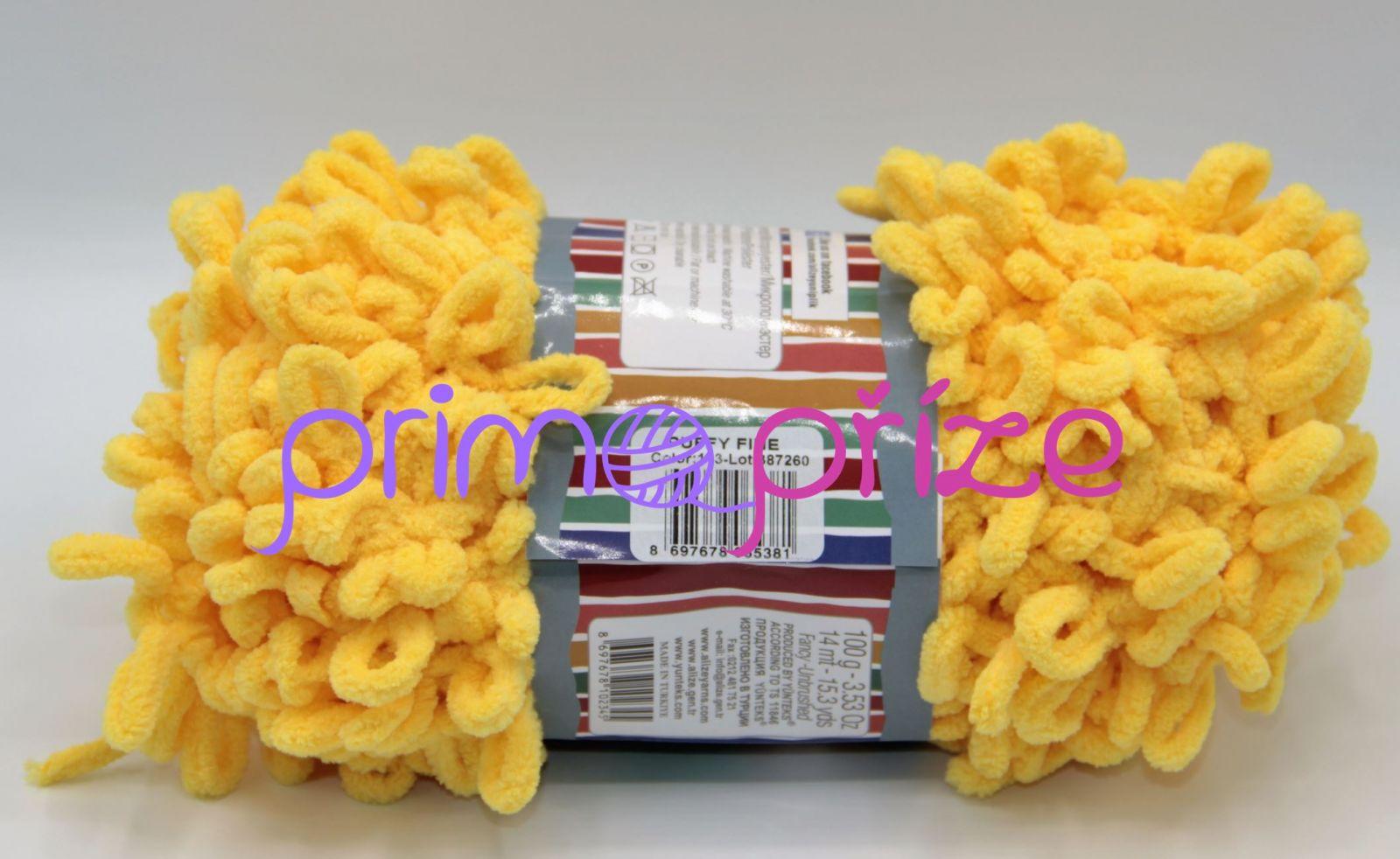 ALIZE Puffy Fine 113 žlutá