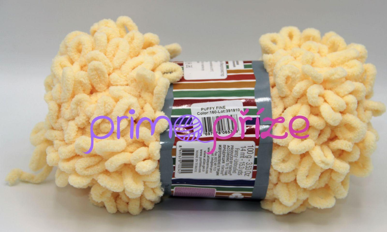 ALIZE Puffy Fine 160 světle žlutá