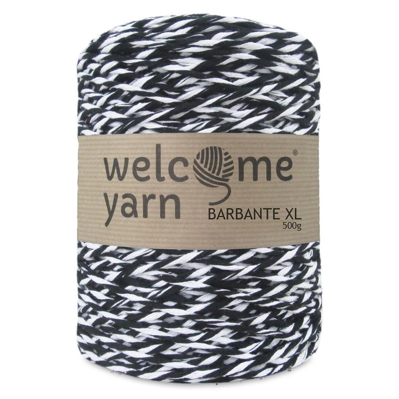 WELCOME YARN Barbante XL černo-bílá