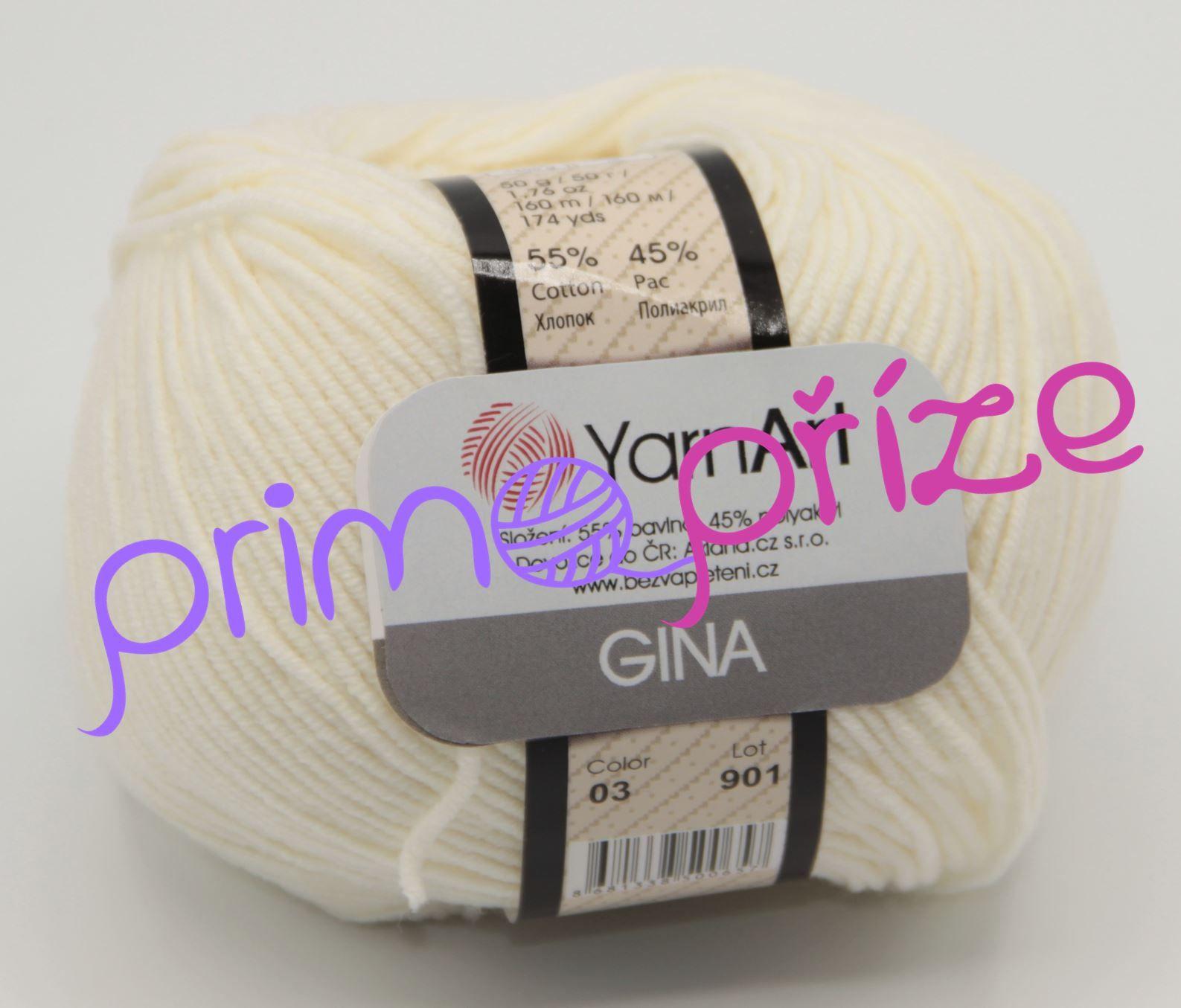YarnArt Jeans/Gina 03 smetanová