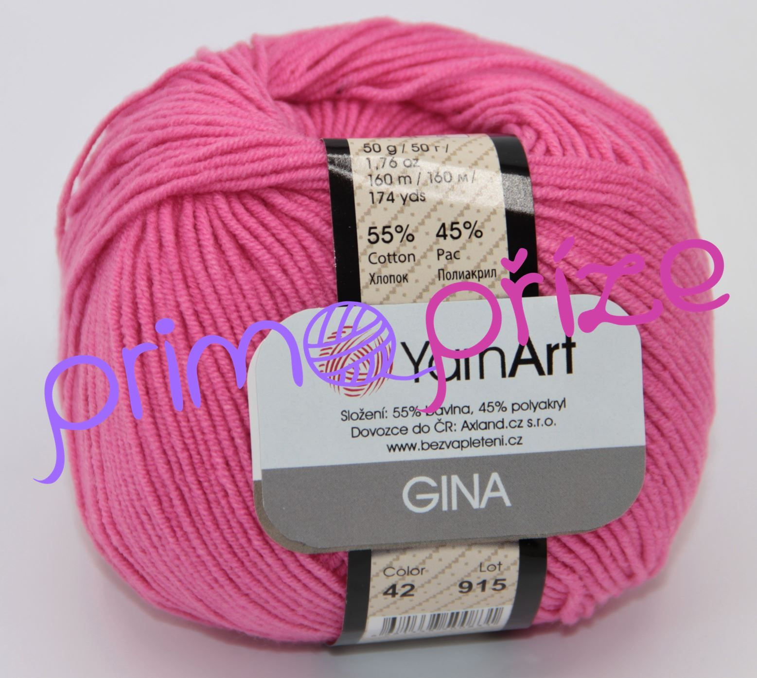 YarnArt Jeans/Gina 42 růžová