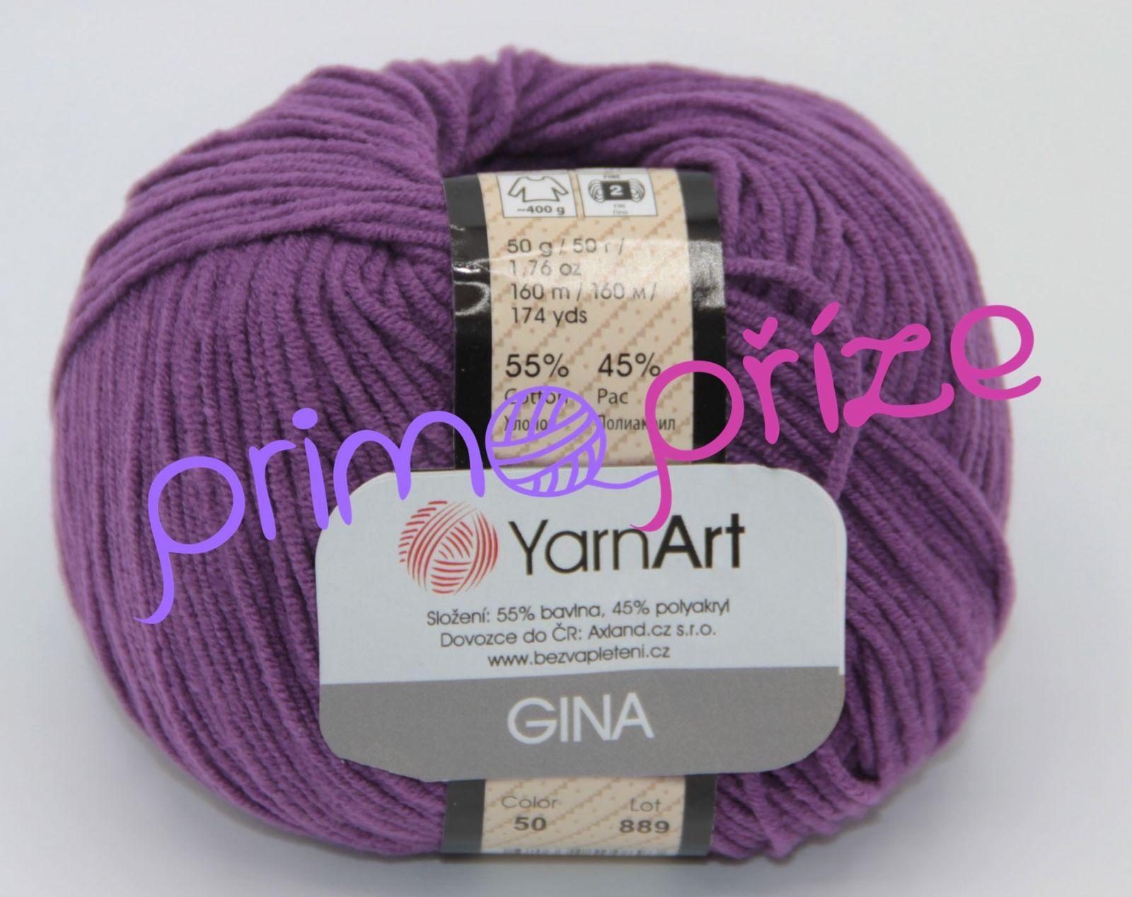 YarnArt Jeans/Gina 50 tmavě fialová