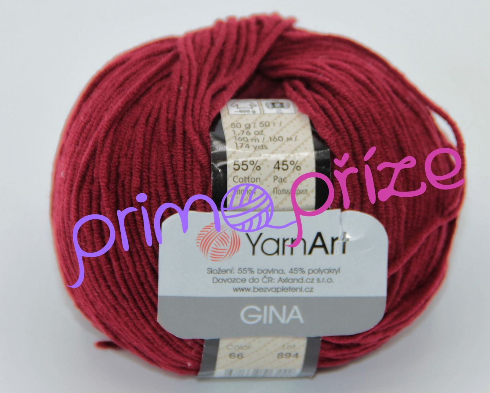 YarnArt Jeans/Gina 66 bordo