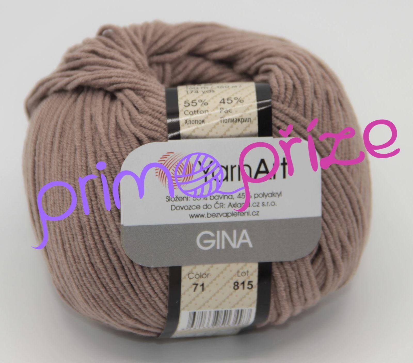 YarnArt Jeans/Gina 71 kakaová