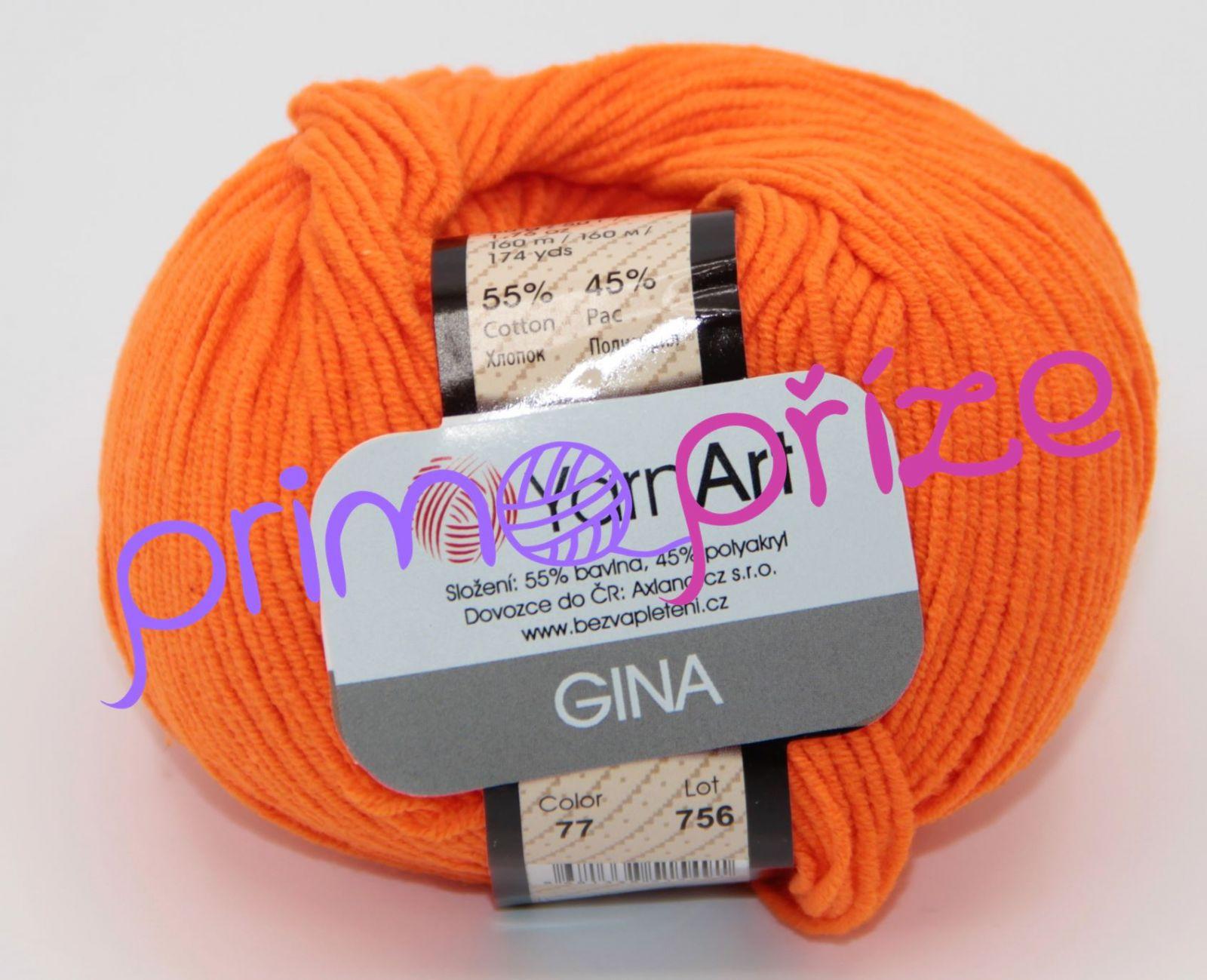 YarnArt Jeans/Gina 77 oranžová