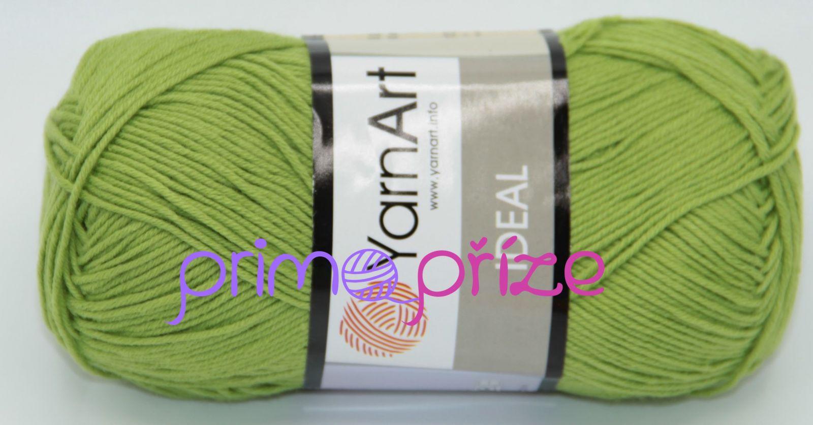 YarnArt Ideal 235 olivově zelená