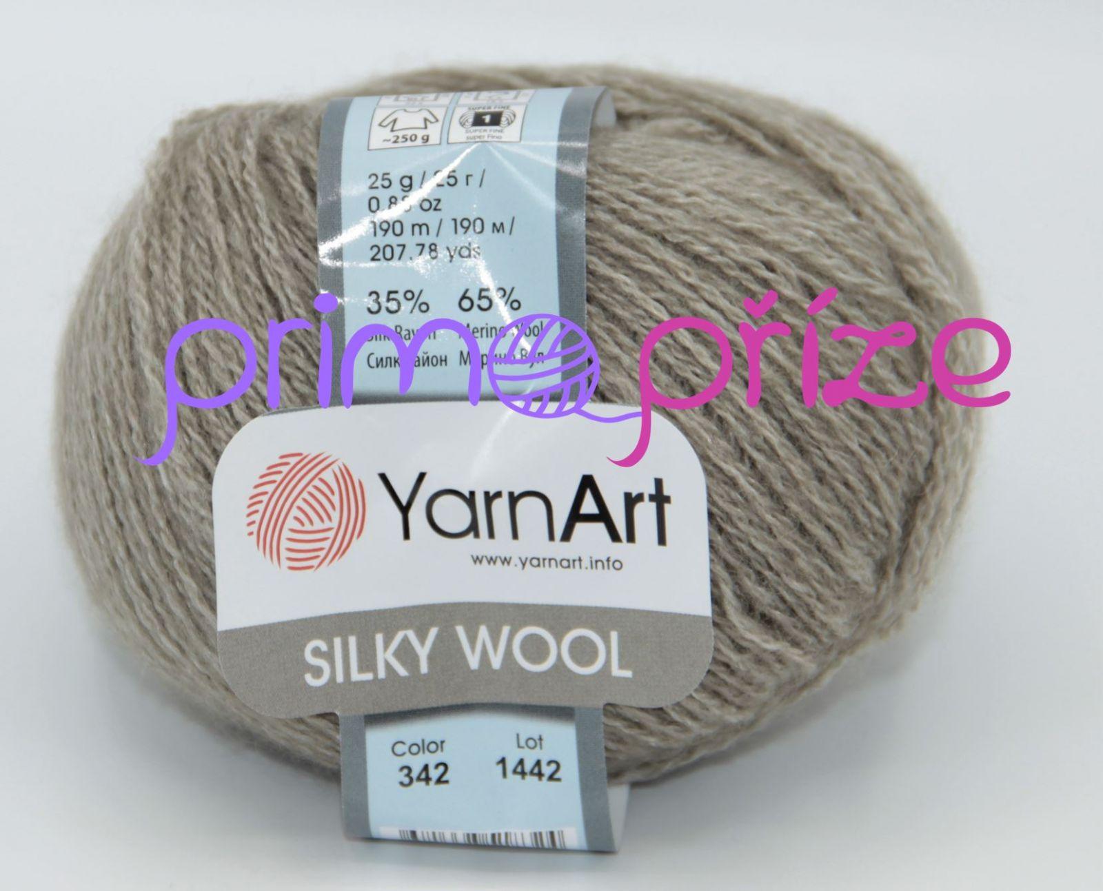 YarnArt Silky Wool 342 šedohnědá