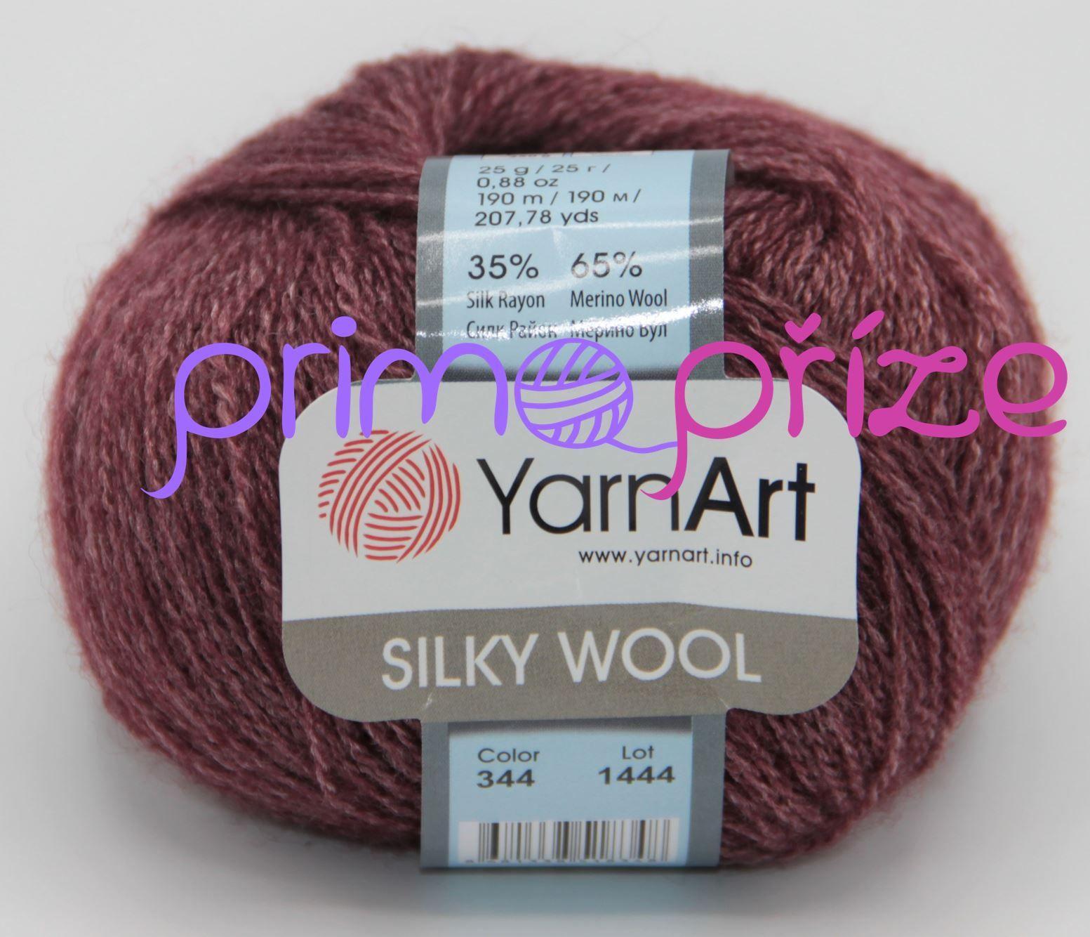 YarnArt Silky Wool 344 bordo