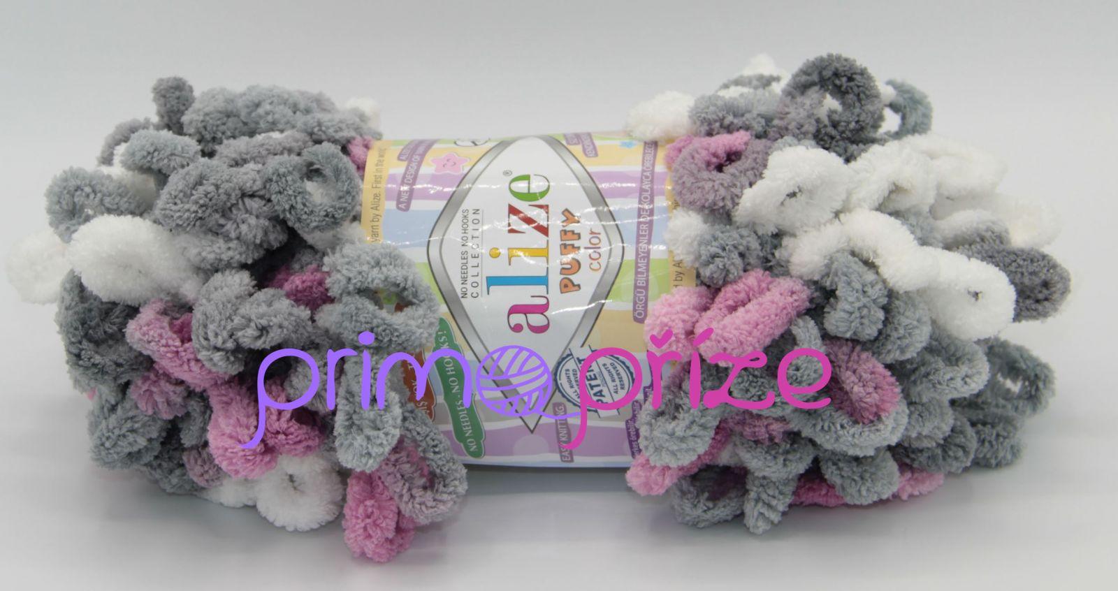 ALIZE Puffy Color 6070 vícebarevná