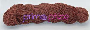 PRIMA Šňůry 5mm cihlově rudá-hnědá melange