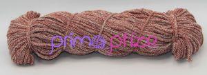 PRIMA Šňůry 5mm cihlově rudá-smetanová melange