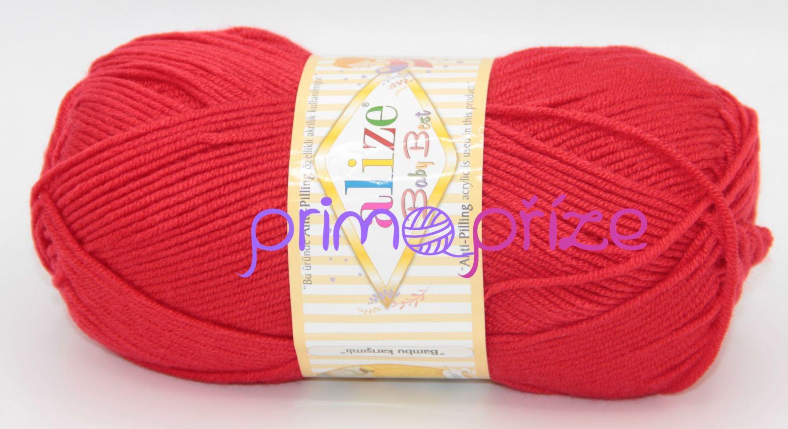 ALIZE Baby Best 056 červená