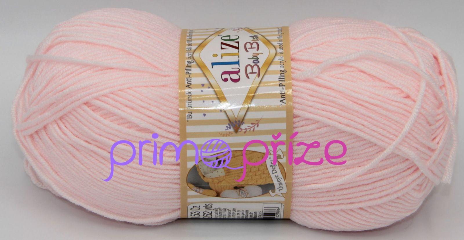 ALIZE Baby Best 184 bledě růžová
