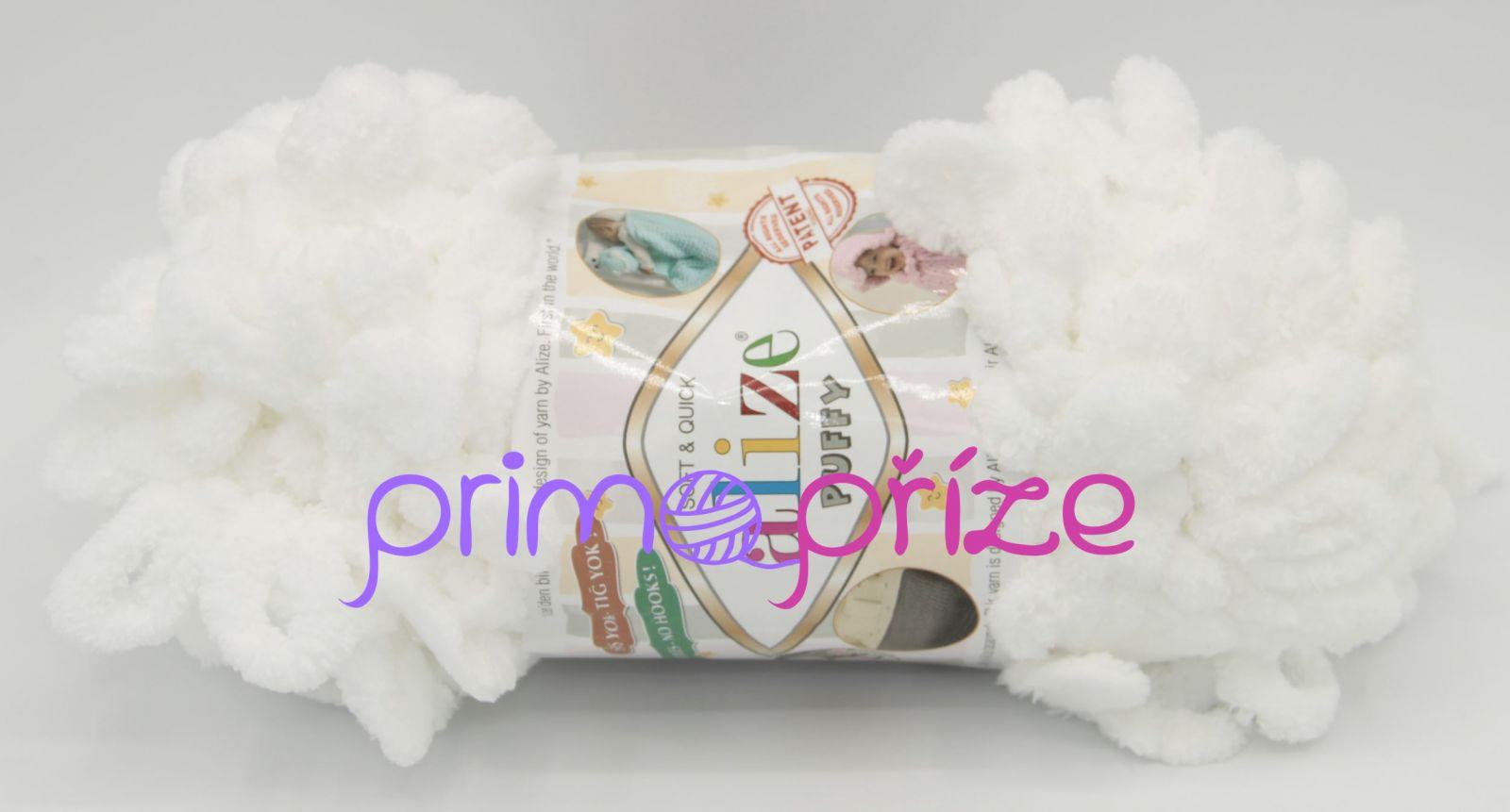 ALIZE Puffy 055 bílá
