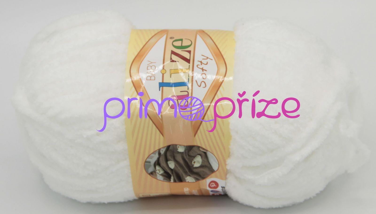 ALIZE Softy 055 bílá