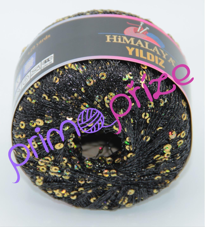 HIMALAYA Yildiz 58110 černá se zlatými flitry