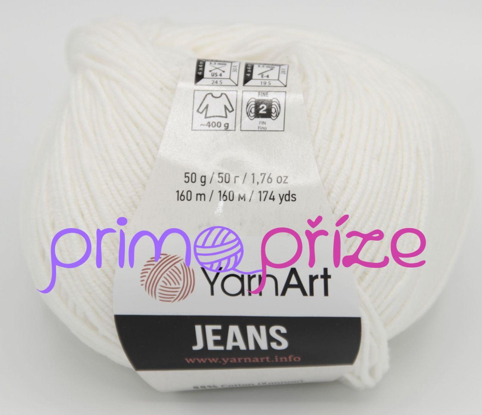 YarnArt Jeans/Gina 01 přírodní bílá