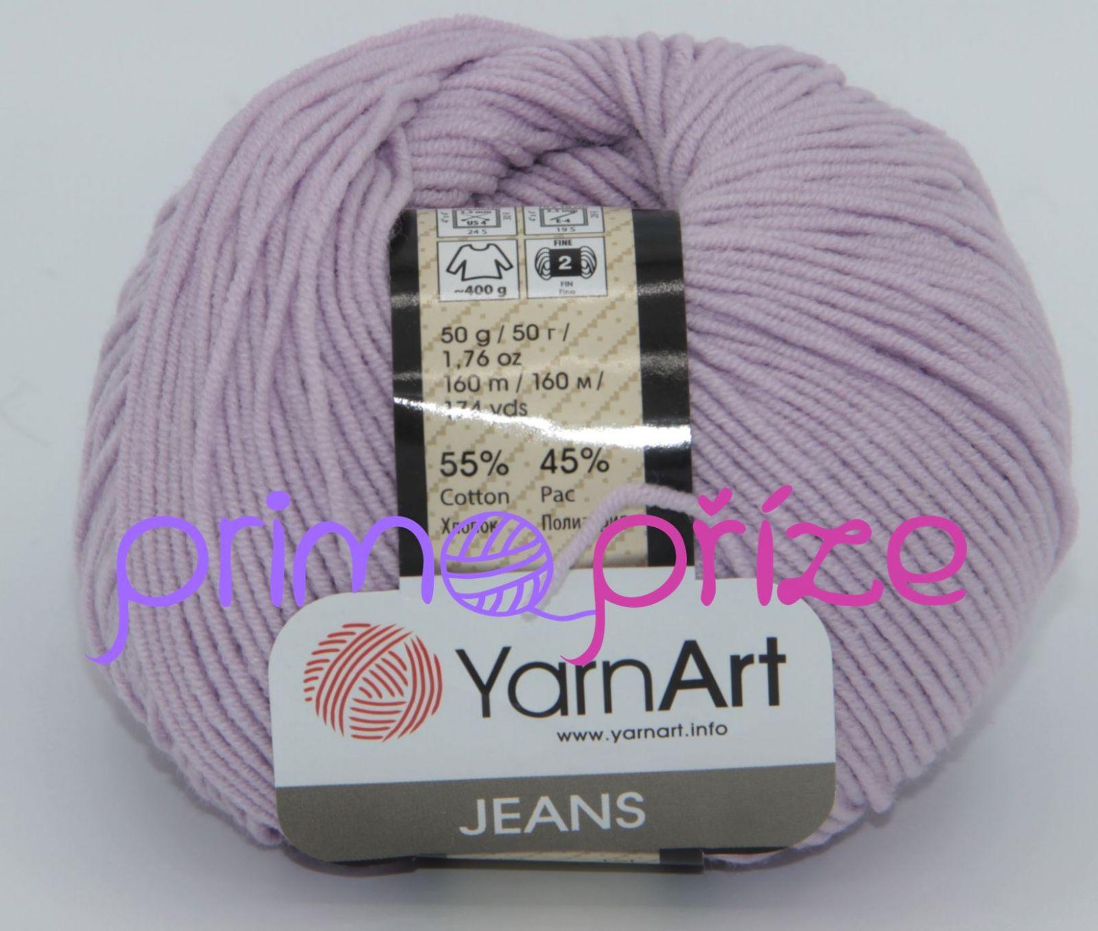 YarnArt Jeans/Gina 19 fialková