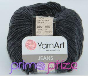 YarnArt Jeans/Gina 28 šedočerná